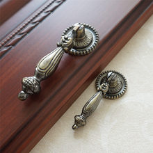 Bronze Drawer Dresser Drop Pulls Cupboard Knobs Handle Kitchen Cabinet Rustic Furniture Hardware