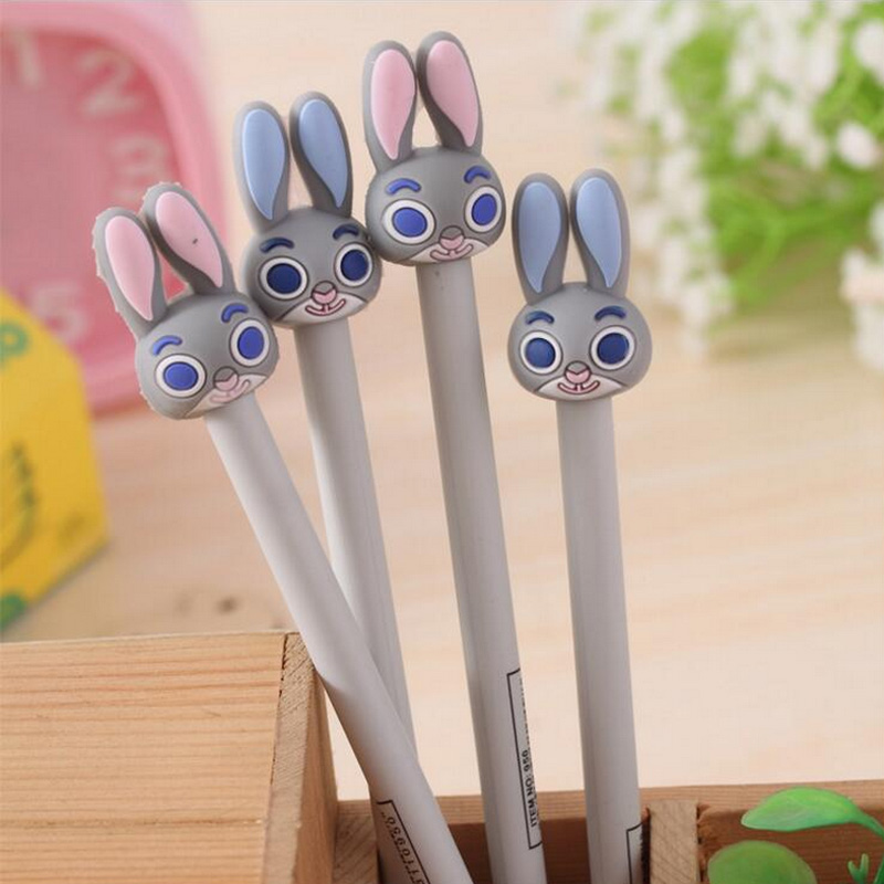 2 pcs/lot Lovely rabbit gel pen kawaii stationery pens canetas material escolar office school supplies papelaria