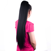 """75 cm 30 """"Super Lange Yaki Straight Koord Paardenstaart Pruik Valse Haarstukje Paardenstaart Synthetische Clip in Hair Extensions"""