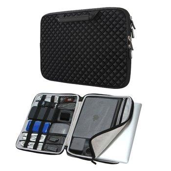 iCozzier 13-13.3 Inch Handle Diamond Foam Laptop Sleeve, Shock Resistant Electronics Accessories Storage Handbag /Stylish Travel