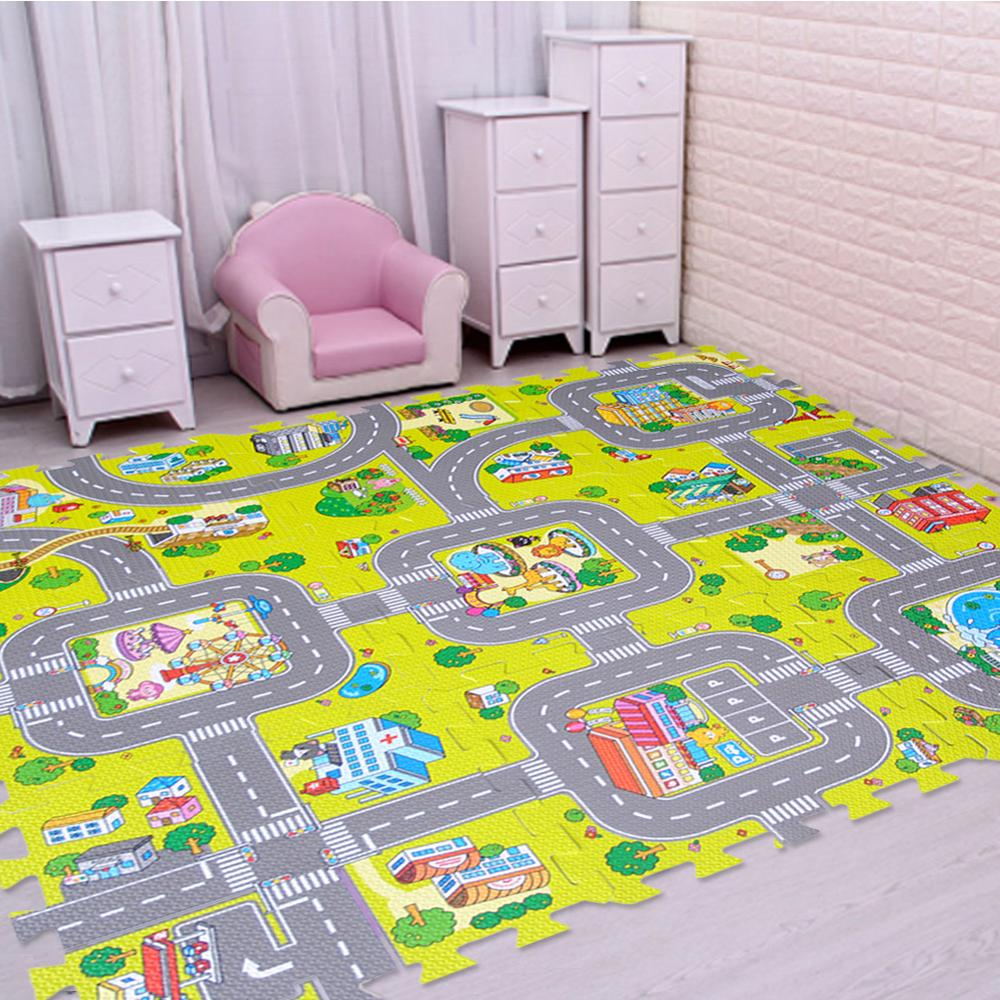 39 x 59 Natural Trellis Little Love by NoJo Plush Nursery Rug