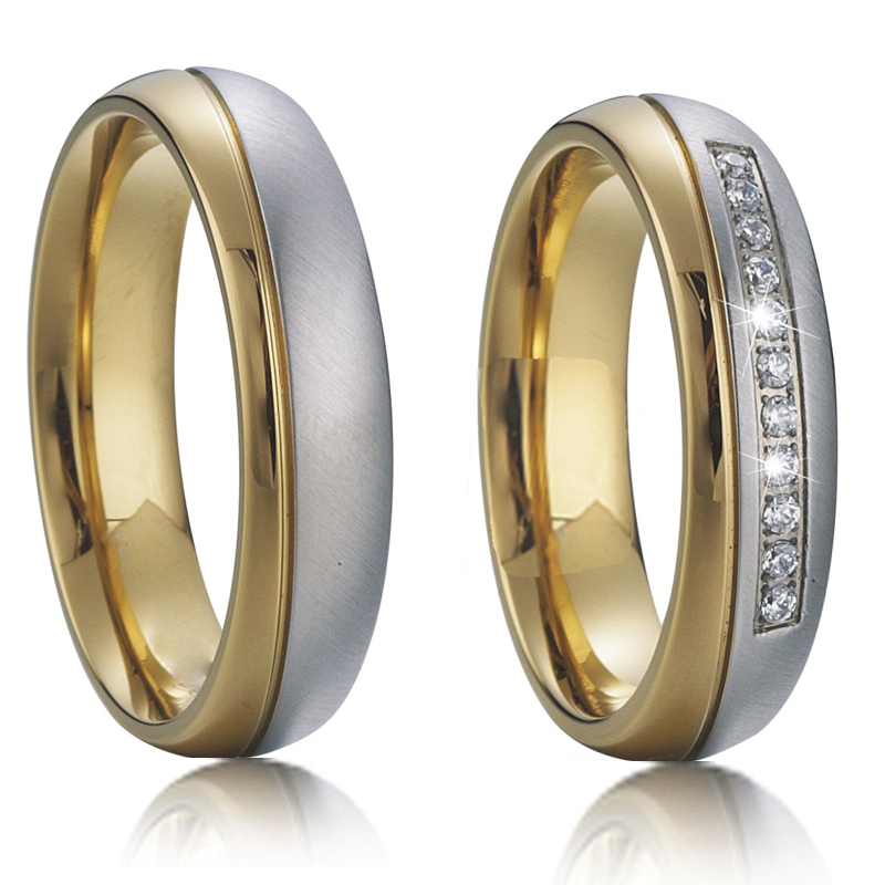 Vintage Alliance Female and Male Wedding Rings pair ...
