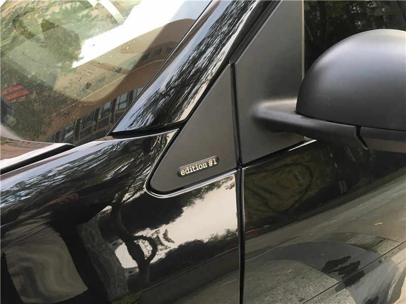 Par 3D pegatina de coche edición #1 emblema insignia Logo espejo decoración Calcomanía para Benz Smart fortwo/forfour C453/W453 Roadster