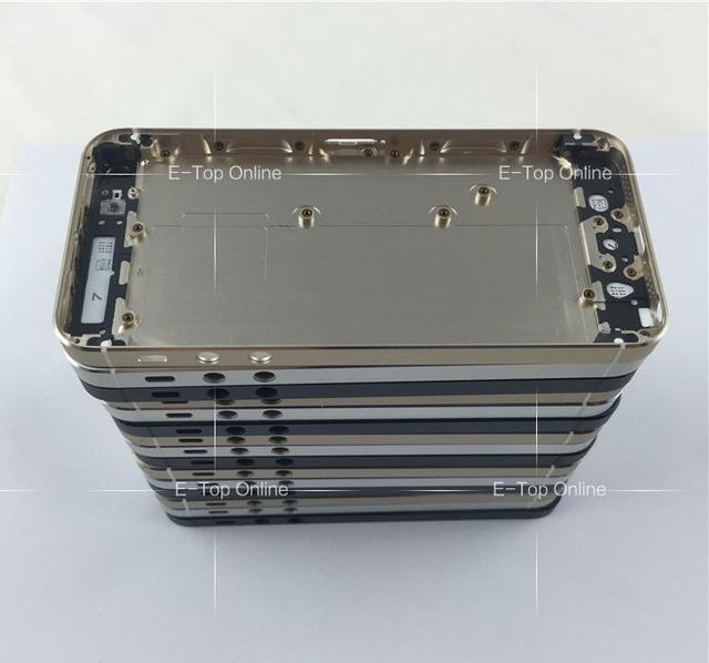 Com botões completa chassis para iphone 5 5g/5s iphone5 tampa da bateria porta voltar habitação Kit 5S frame da liga de metal Peças; 5 pçs/lote