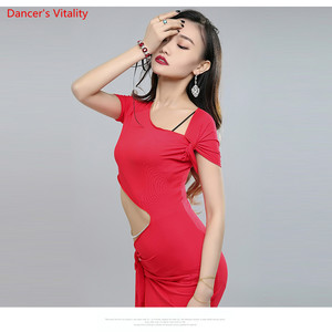 Image 5 - Bandage Design Women Competition High Grade Bellydance Costumes Belly Dance Stage Performance Dress 3colour