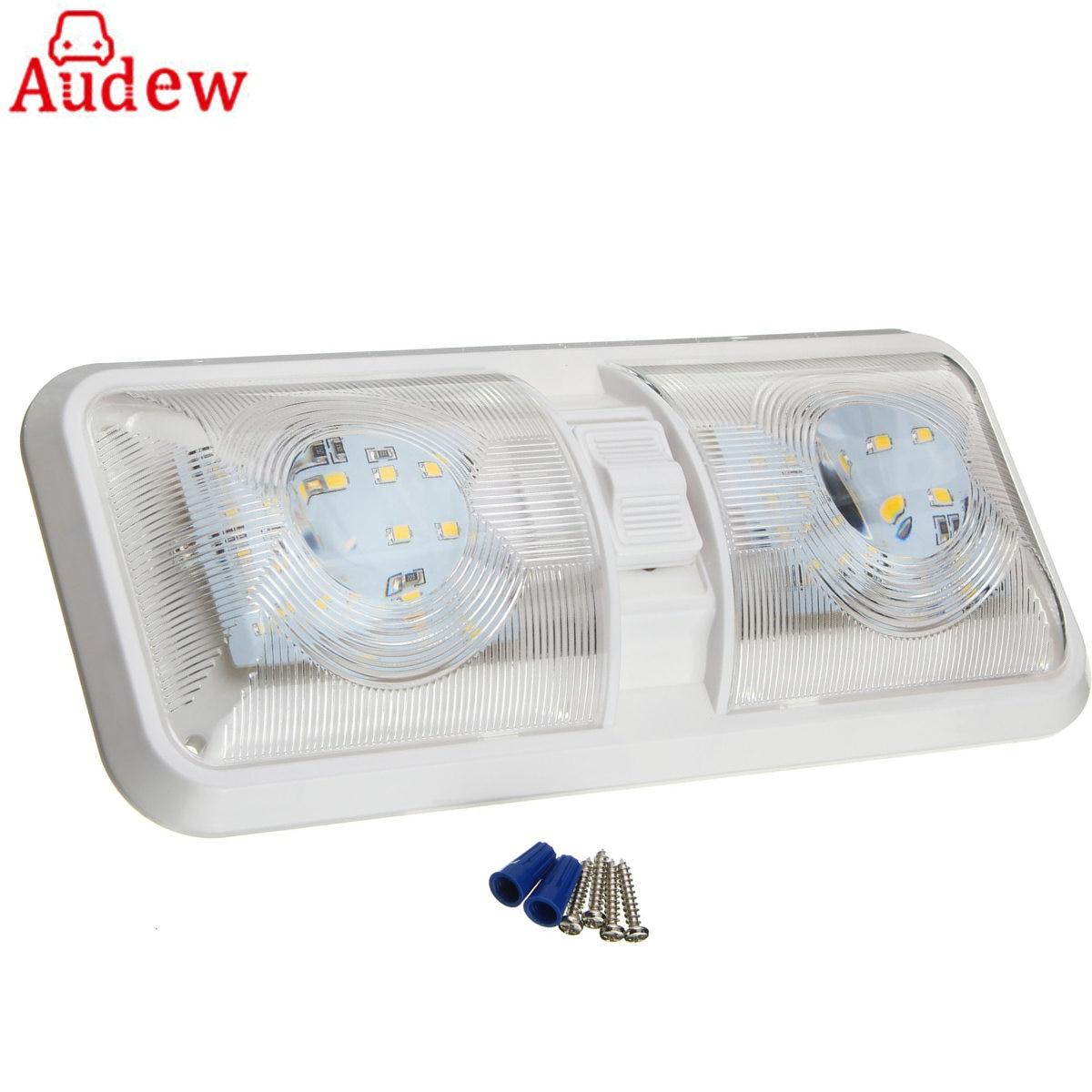 1Pcs Car Dome Light 12V 48 LED Interior Roof Ceiling Reading Lamp For RV Boat For