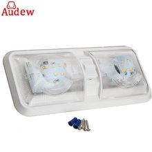 1 шт. автомобиля плафон 12 В в светодио дный 48 LED интерьер крыши Потолочный лампа для чтения RV лодка Camper прицепы пластик белый
