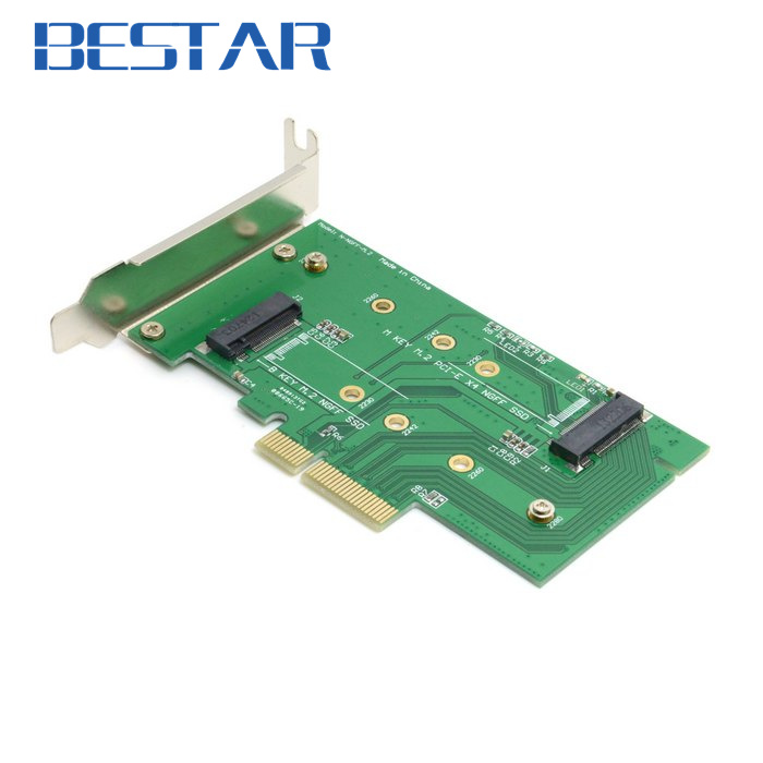 M.2 NGFF PCIe 4 LANE SSD to pci-e PCIE 3.0 x4 & NGFF to SATA Adapter for xp941 LITE-ON IT M6E With Low Profile Bracket xp941 sm951 pm951 sm961 m 2 ngff ssd to pci e x4 lane host adapter converter card m 2 ngff to nvme with cooling fan em88
