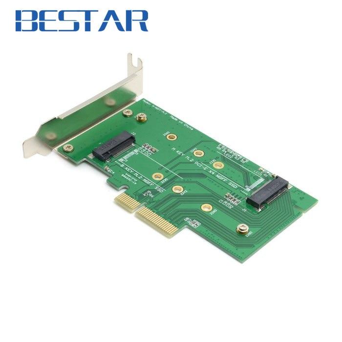 все цены на M.2 NGFF PCIe 4 LANE SSD to pci-e PCIE 3.0 x4 & NGFF to SATA Adapter for xp941 LITE-ON IT M6E With Low Profile Bracket онлайн