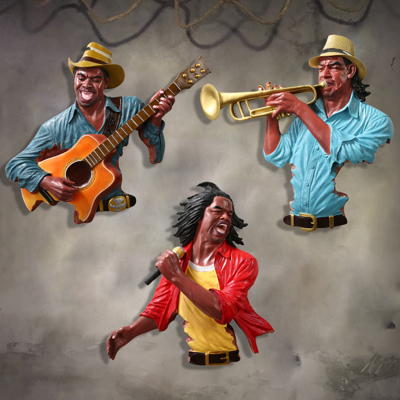 European and American music figures wall hanging hooks Home living room murals retro crafts ornaments home decorationEuropean and American music figures wall hanging hooks Home living room murals retro crafts ornaments home decoration