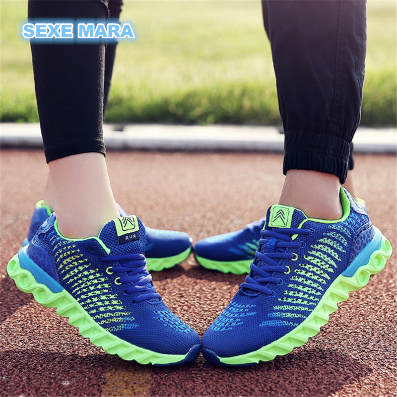 new Breathable Flywire Sneakers Women and Men Running shoes for women Outdoor Sports Shoes Athletic Jogging Walking Trainers 2018 men warm winter running shoes high top athletic sneakers sports outdoor fitness women jogging trend trainers walking boots