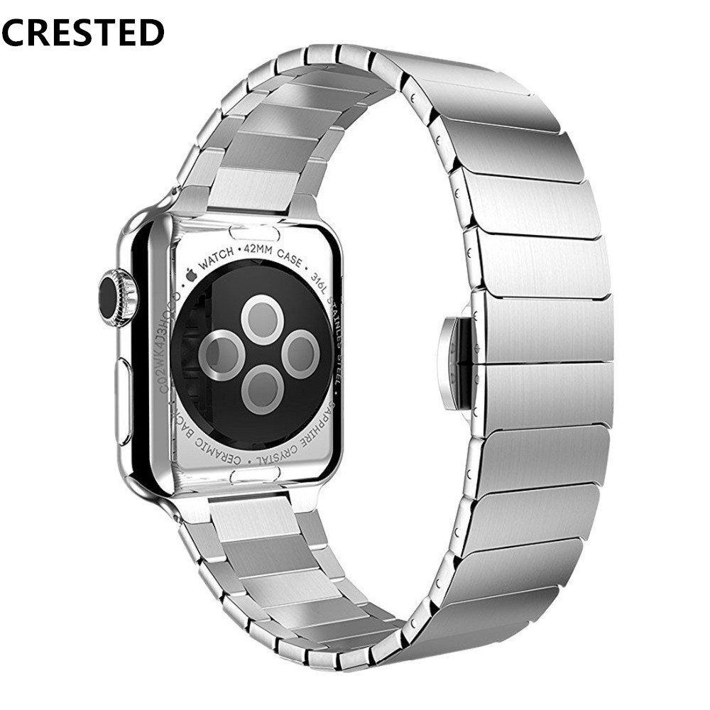Pulseira de aço inoxidável para apple assistir banda apple 4 3 5 banda 44mm/40mm iwatch 42mm 38mm correa pulseira de ligação de luxo cinto