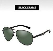 Green Polarization Lenses Sunglasses UV400 Men Aviator Eyewear EXIA OPTICAL KD-101 Series