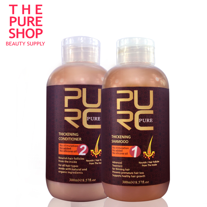 Hair loss products 2018 hot sale best hair growth products 300ml hair thickening shampoo and hair conditioner free shipping