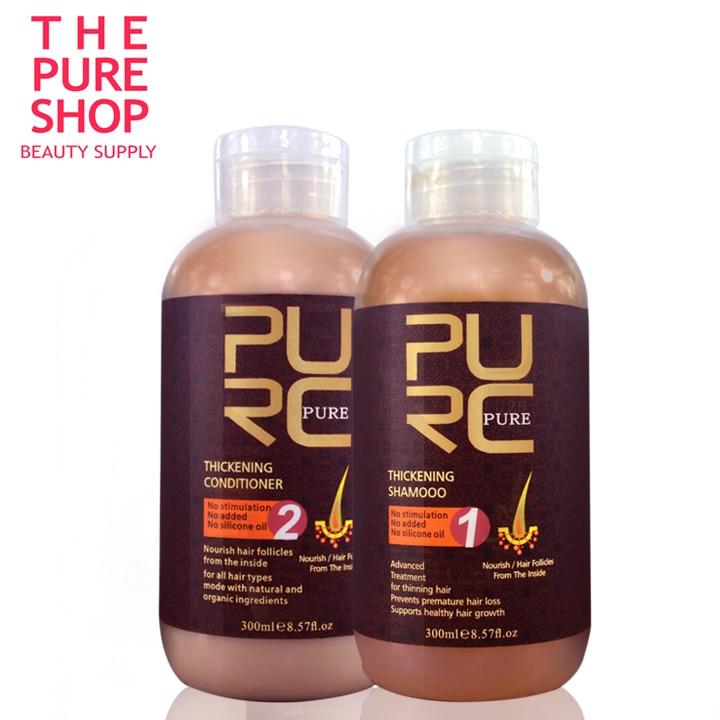 Perte de cheveux produits 2018 Offre Spéciale meilleure croissance des cheveux produits 300 ml cheveux épaississement shampooing et revitalisant livraison gratuite