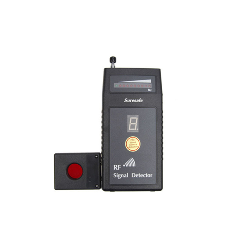 RF Signal Detector With Auto Threshold Bug Detector Wireless Camera Detector Anti Eavesdropping Device Full-range With Alarm wireless rf signal detector cc308 multi function camera bug gsm alarm system wifi gps laser built in battery full range