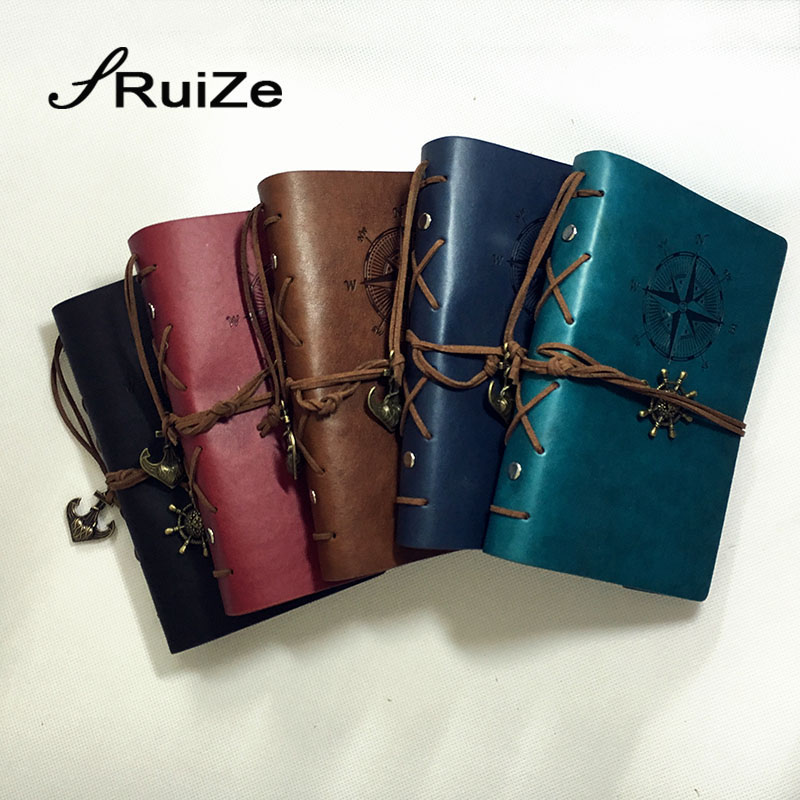 RuiZe Vintage Diary Journal Notebook A6 Leather Spiral
