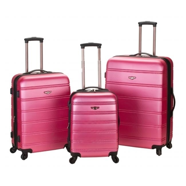 ROCKLAND F160-PINK MELBOURNE 3 PC ABS LUGGAGE SET migos melbourne