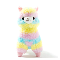 One Piecee 35cm Plush Toys Rainbow Alpaca Japanese Soft Plush Alpacasso Baby 100 Plush Stuffed Animals