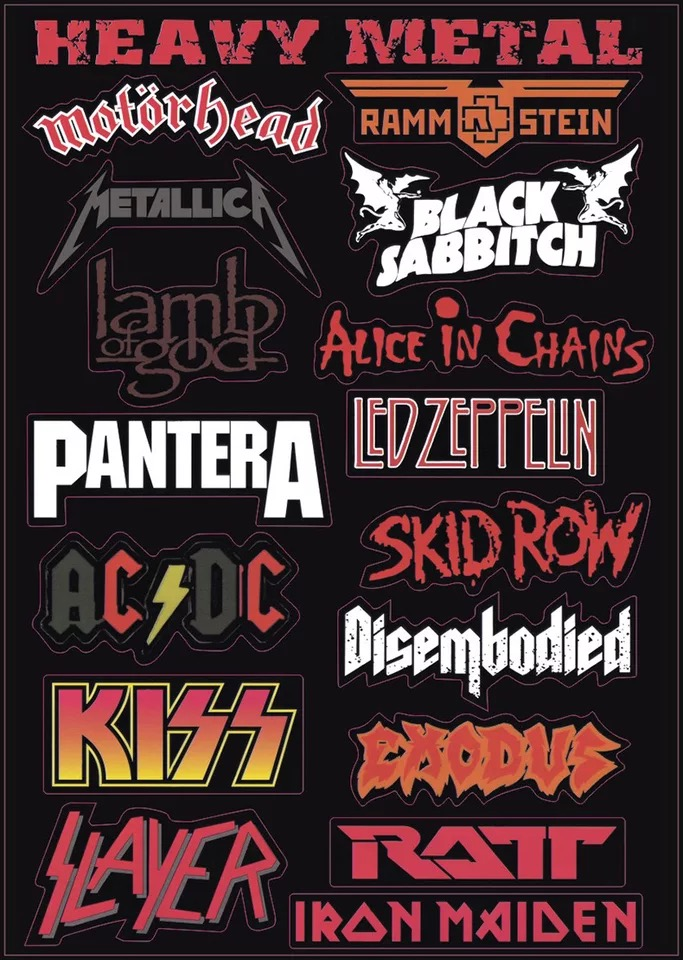 Heavy Metal Rock Punk Travel Тақырыптық ноутбук - Ноутбуктердің аксессуарлары - фото 3