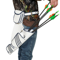 Arrow Quiver RH Archery PU Leather Arrow Holder Portable Waist Hip Bag Right Hand Hunting Shooting Quiver Outdoor Accessories
