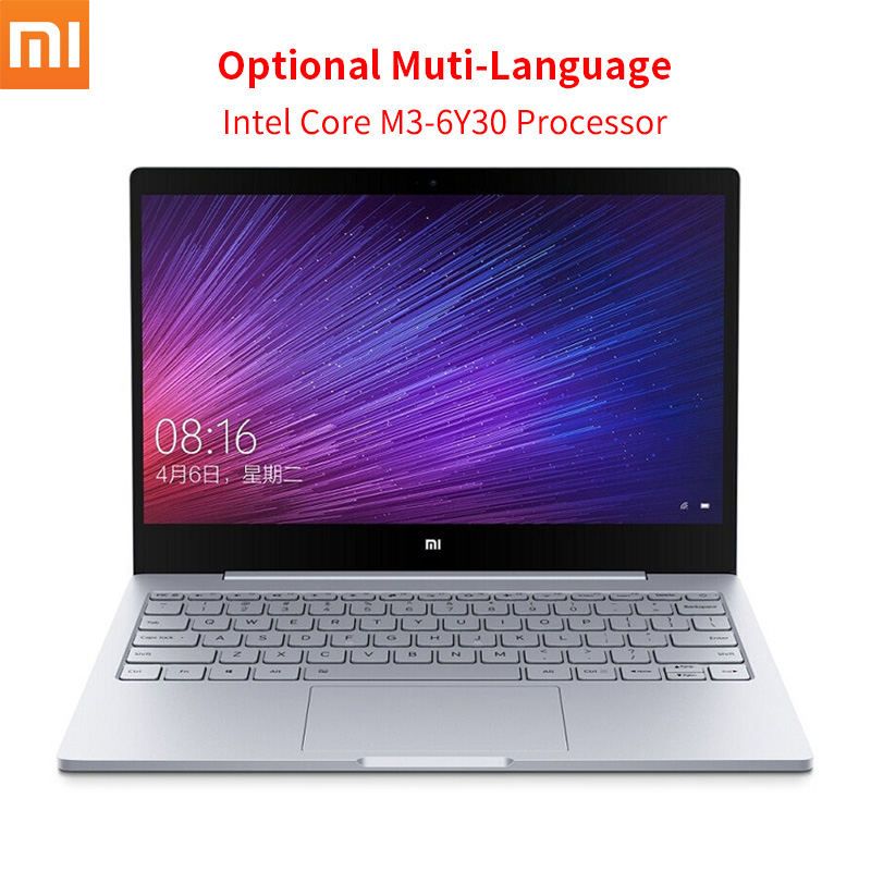 Original Xiaomi Mi Notebook Air 12.5 inch Intel Core M3-6Y30 CPU 4GB DDR3 RAM Windows 10 Dual Core Laptop SATA SSD Ultrabook