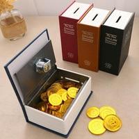 Мини-Сейф для книг, денег, секретный сейф, безопасный замок для хранения наличных денег, монет, ювелирных изделий, шкафчик для ключей, подаро...