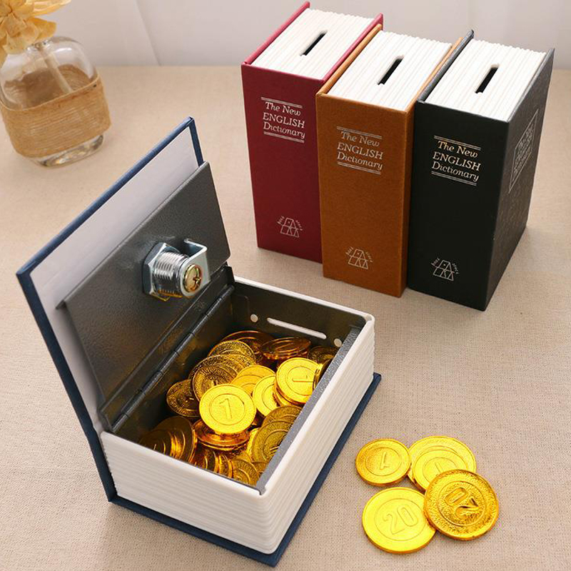 Dictionary Mini Safe Box Book Money Hide Secret Security Safe Lock Cash Money Coin Storage Jewelry Key Locker Kid Gift DHZ008