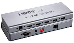 HDMI V2.0 splitter 1x4 support 4K*2K/60Hz/3D  support HDCP2.0 4K IR extension  EDID management  RS232 09 hdmi splitter 1 in 2 out support 3d 4k x 2k hdcp edid