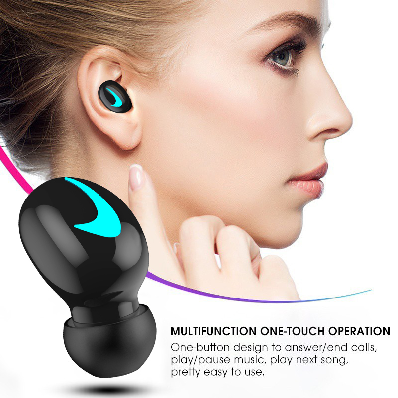M&J TWS 5.0 Bluetooth headphone 3D stereo wireless earphone with mic IPX5 Waterproof Headset and power bank charging box 9