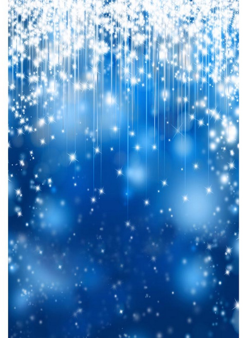 5x7ft Royal Blue Spots Wall Glitter Stars Sparkles Decors