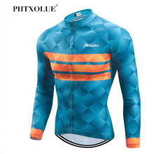 Phtxolue Top Quality Cycling Jersey Long Sleeve MTB Bicycle Clothing Mountain Bike Sportswear Clothes