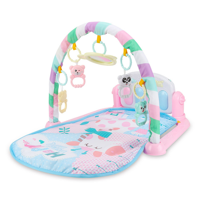 Baby Play Mat Fitness Bodybuilding Frame Pedal Piano Music Carpet Blanket Kick Play Lay Sit Toy @ZJF