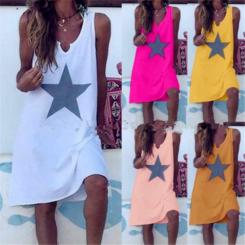 Women 2019 Loose Floral Vintage Strap Ruffles Star Befree Dress Large Big Summer Lace Camis Party Beach Dresses Plus Sizes
