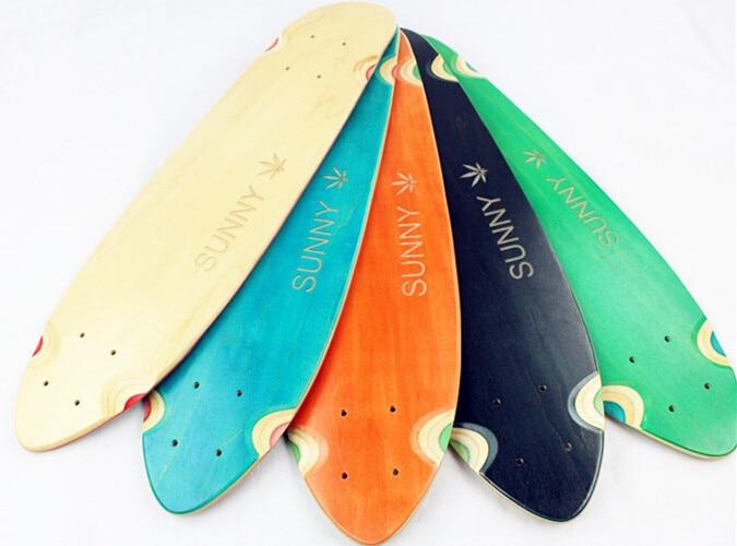 Prix pour 74L-54 Livraison gratuite érable Canadien conseil fashional Brosse Rue Poissons route voyage longue planche quatre petit Longboard skate board
