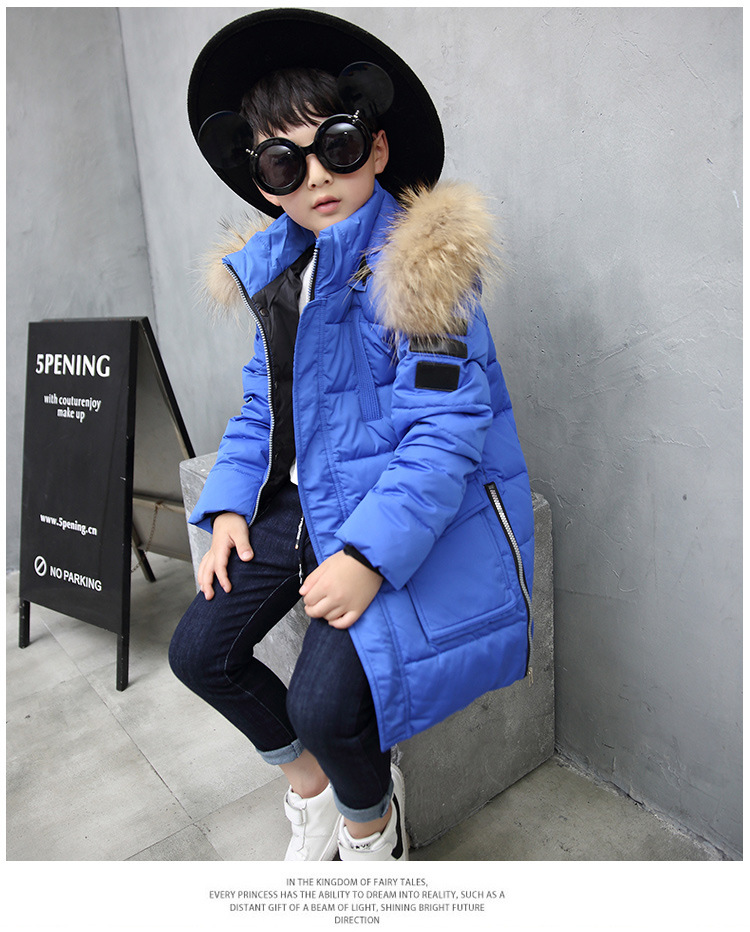2018 Fashion Boys Down Jackets/Coats Winter Russia Baby Coats Thick Duck Warm Clothing Children Outerwears -30Degree Jackets new 2017 russia winter boys clothing warm jacket for kids thick coats high quality overalls for boy down