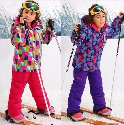 -30 Derece için Çocuk Kabanlar Sıcak Coat Sportif Kayak Takım Çocuk Setleri Giysileri Için Su Geçirmez Windproof Kız Ceketler 3-16 T HX09