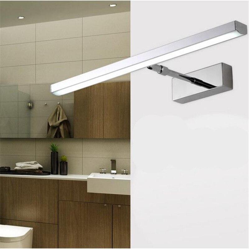 moderno creativo girevole flessibile impermeabile di alluminio acryl led luce dello specchio per il bagno soggiorno