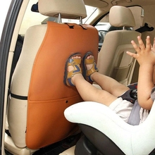 Car Seat Back Cover Case With Storage Pocket Organiser Rear Seat Cover Anti Kick Mats Wear-resistant Car Seatback Protect Access