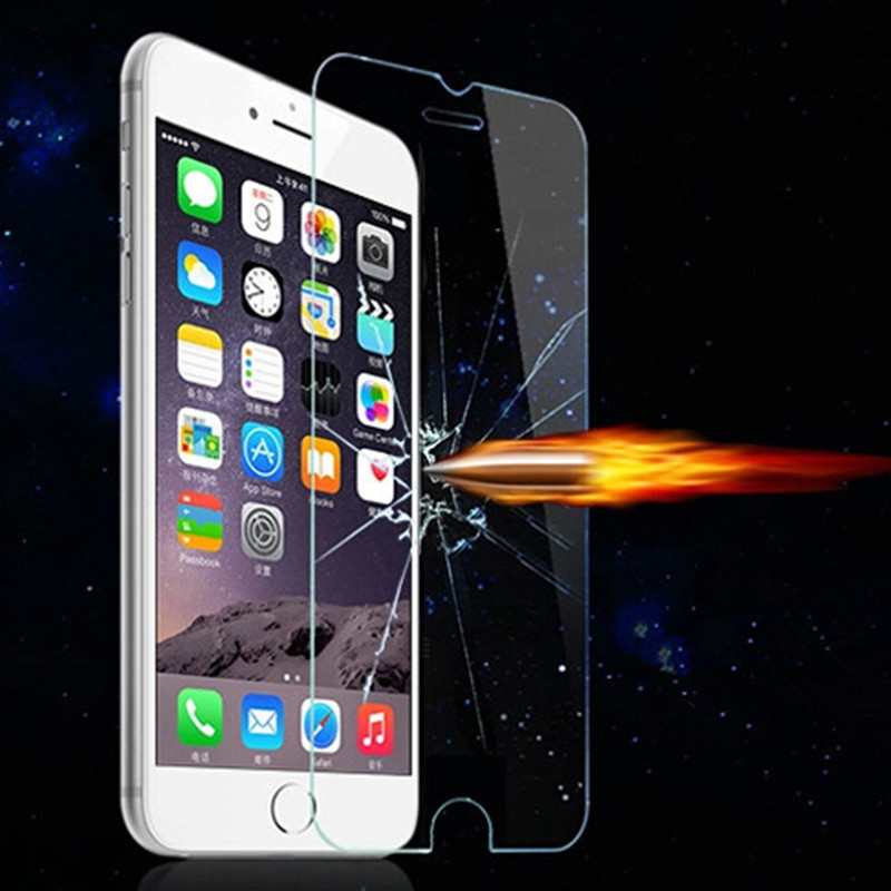 Exran Pantalla Screen Protector Tempered Glass Film for iPhone X 8Plus 7 7 Plus 6 6S <font><b>6G</b></font> Plus 5 5S 5G 4 4S 4G pelicula de vidro