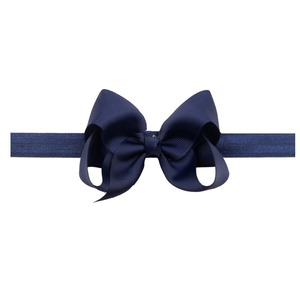 Image 3 - 30 Pcs Colors 4.5 inches Grosgrain Ribbon Baby Girls Hair Bows Headbands for Infants Newborn and Toddlers