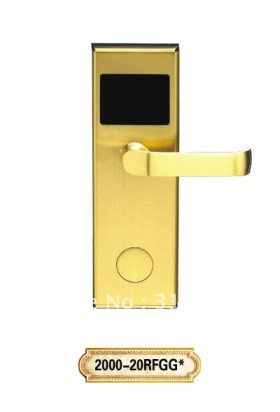 ФОТО Golden Distinguished and elegant RF hotel Door lock can record entry events,professional anti-theft lock bolt,brilliant outward,