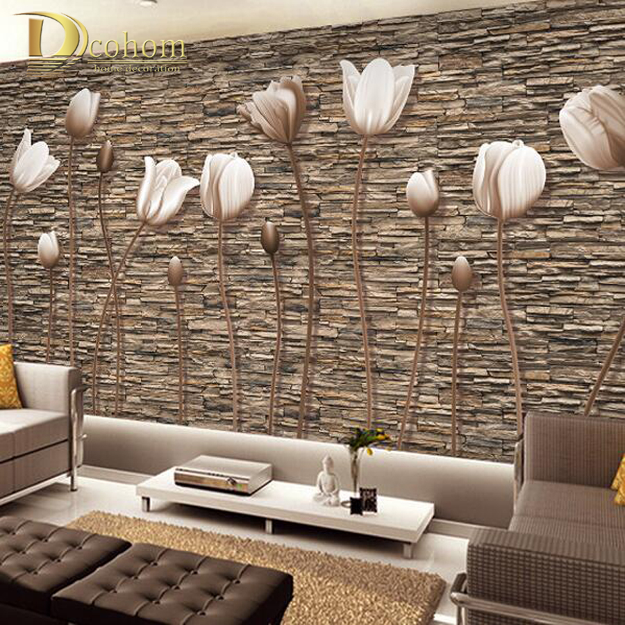 3d Wallpaper Decor : Large d wall murals photo wallpaper flower for living