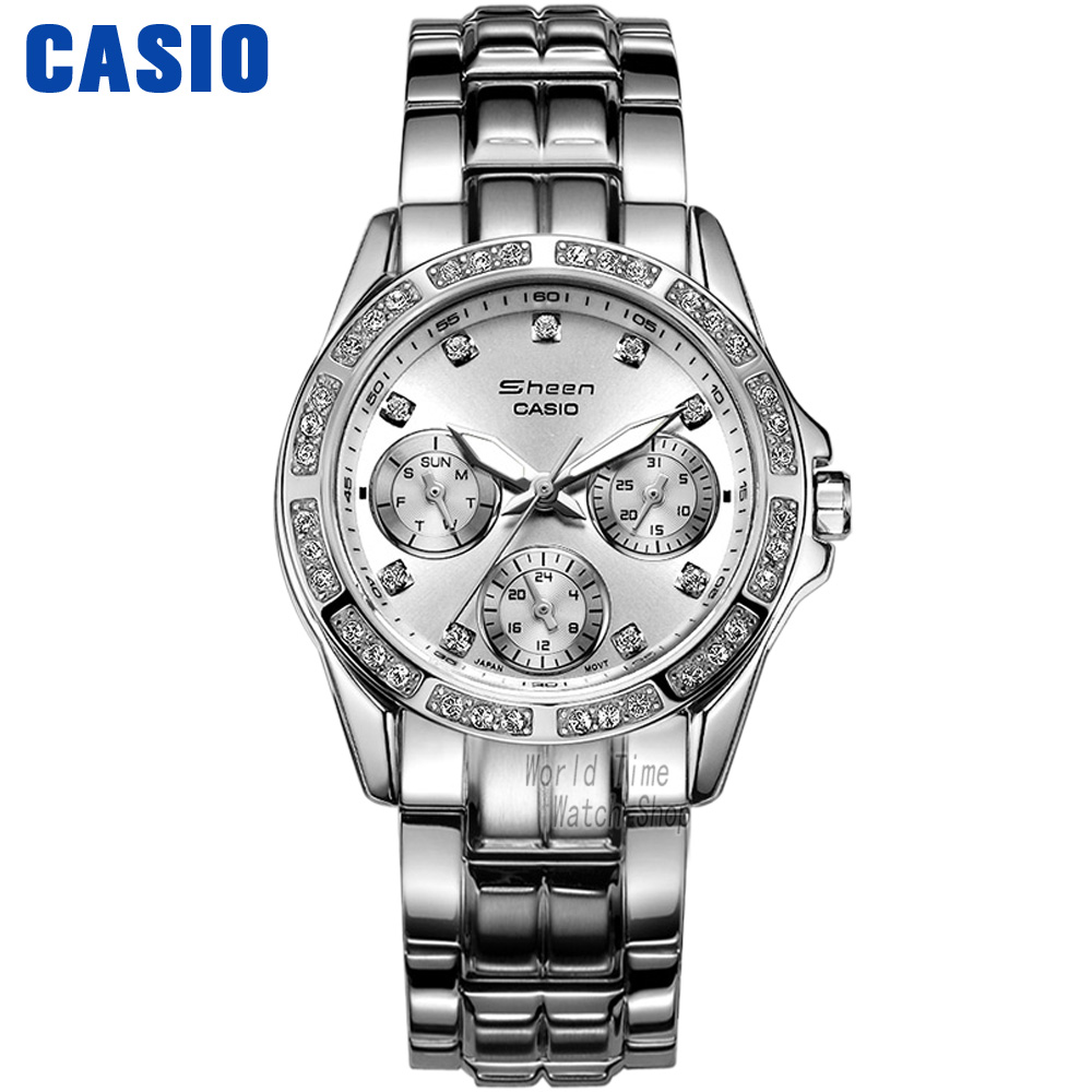 Casio watch Fashion diamond waterproof quartz watch SHN-3013D-7A SHN-3013L-7A SHN-3012GL-7A женские часы casio shn 3013l 7a