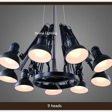 цены Replica Ron Gillad Dear Ingo Suspension Light Free Shipping E27 9 heads Modern Country Spider Pendant Light Pendant lamp