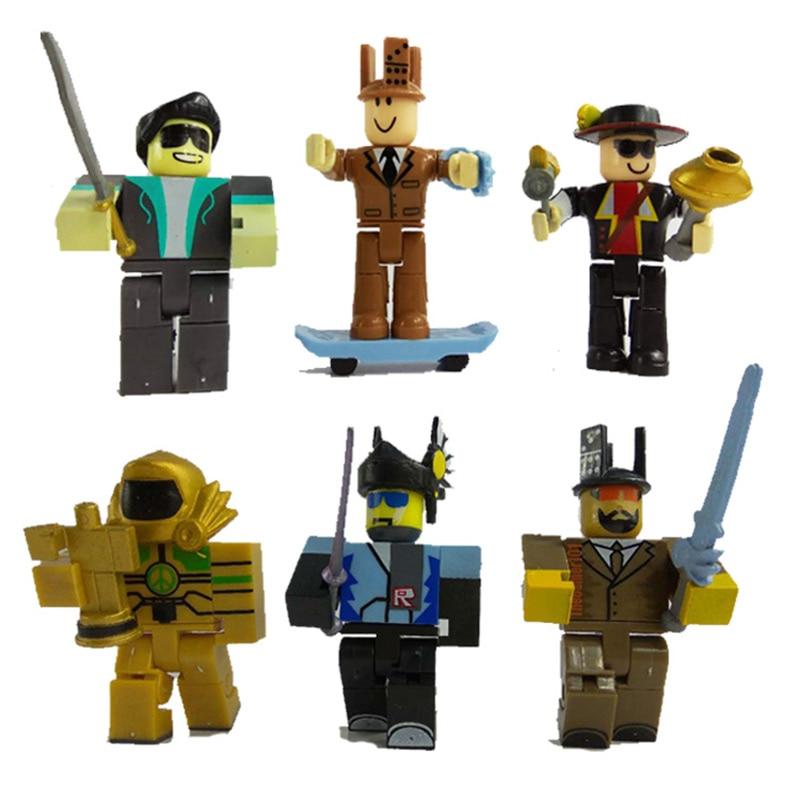 6pcs  set roblox boys figures juguetes 2018 7cm pvc anime
