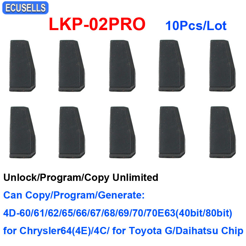 10 Pcs Lot LKP 02PRO 4D 4C Copy Chip Car Key Blank Chip for Tango VVDI