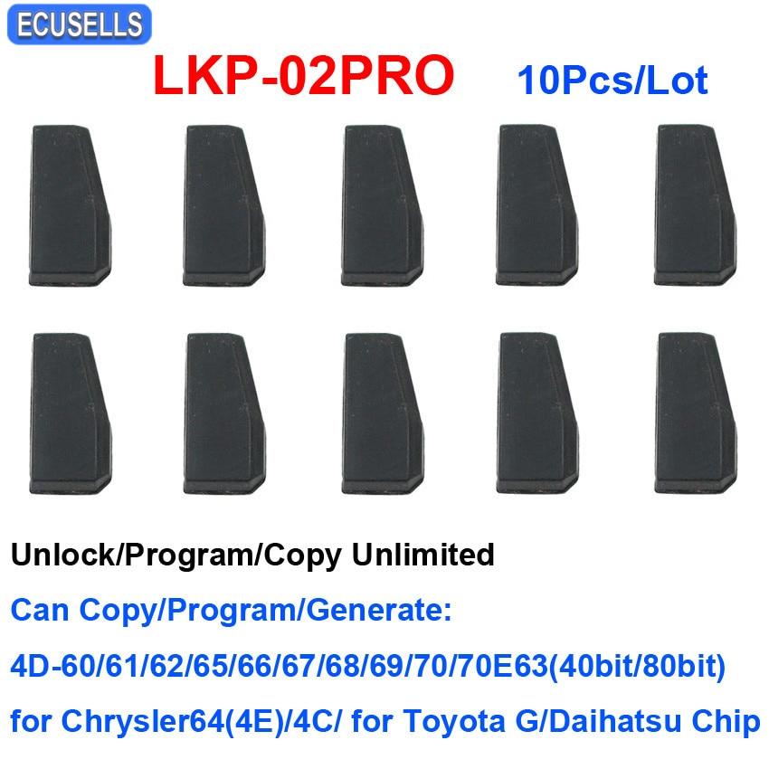 10 Pcs Lot LKP 02PRO 4D 4C Copy Chip Car Key Blank Chip for Tango VVDI