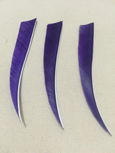 Free shipping 100pcs  5″ Shield Turkey feather fletching for DIY traditional bow arrow