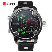 Reloj Hombre NORTH Brand 2016 New Men Outdoor Sports Casual Military Quartz 50M Waterproof Watch Montre Homme Relogio Masculino